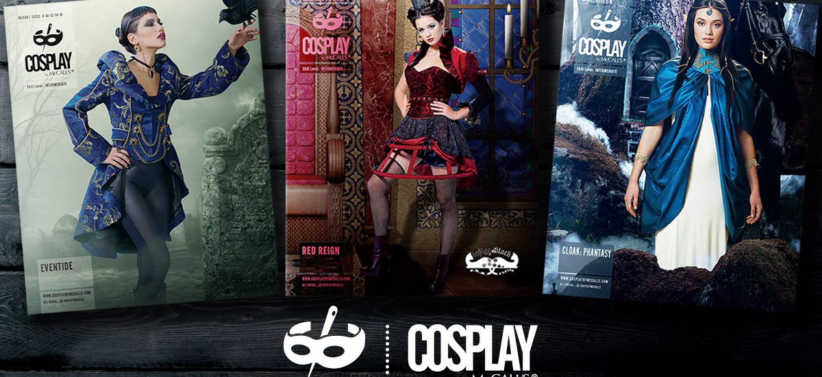 Cosplay by McCalls M2088 Eventide, M2091 Red Reign, M2092 Cloak: Phantasy